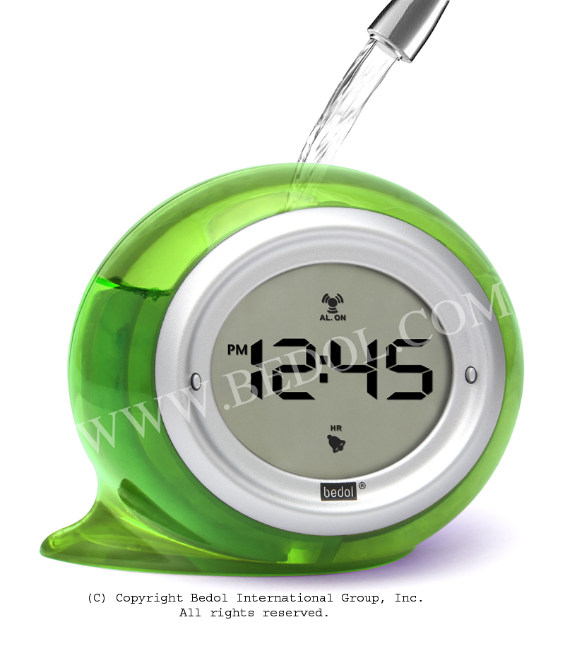 Squirt Alarm The Bedol Water Clock Green